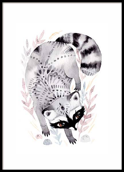 Little Raccoon Poster in der Gruppe Poster / Kinder bei Desenio AB (10115)