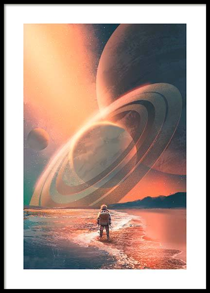 Planets In Sky Poster in der Gruppe Poster / Kinder bei Desenio AB (10119)