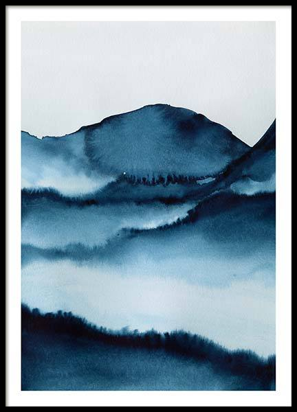 Watercolor Mountains Poster in der Gruppe Poster / Kunstdrucke bei Desenio AB (10124)
