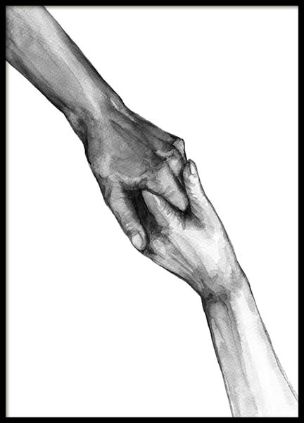 Watercolor Hands No2 Poster in der Gruppe Poster / Illustration bei Desenio AB (10202)