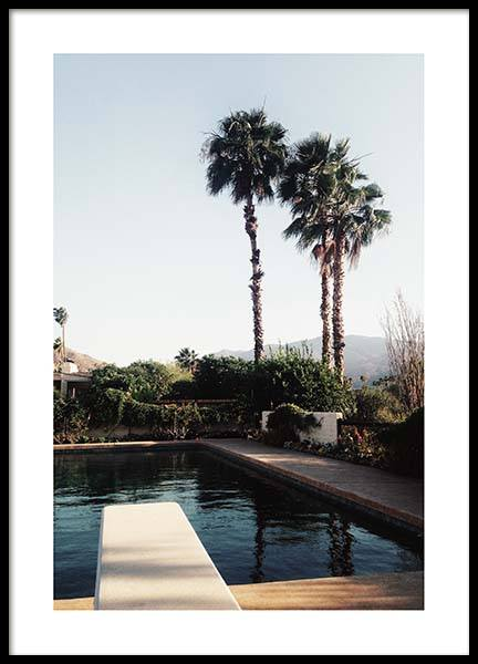 Palm Springs Pool Poster in der Gruppe Poster / Naturmotive bei Desenio AB (10222)