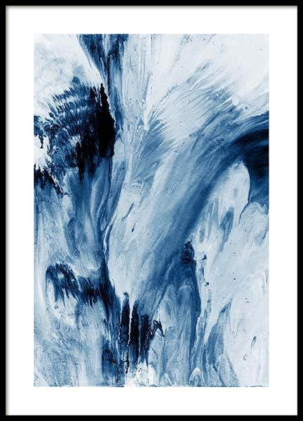 Abstract Blue Poster in der Gruppe Poster / Kunstdrucke bei Desenio AB (10273)