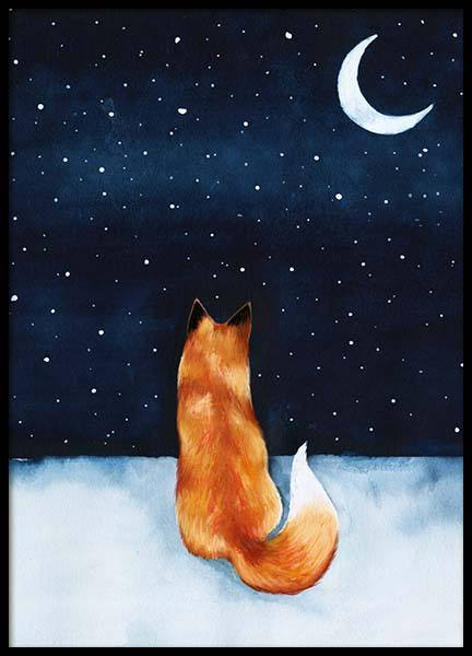 Night Fox Poster in der Gruppe Poster / Kinder bei Desenio AB (10274)