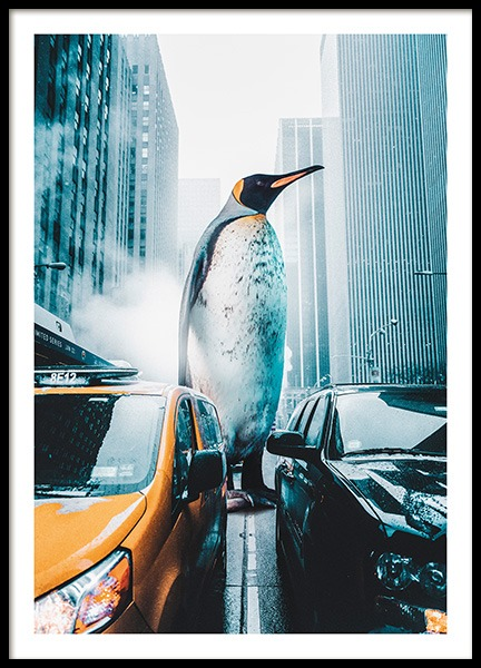 Penguin City Poster in der Gruppe Poster / Tiere bei Desenio AB (11208)