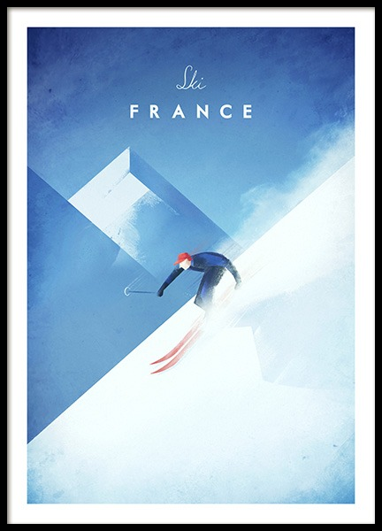 Ski France Poster in der Gruppe Poster / Handpicked / Henry Rivers bei Desenio AB (11984)