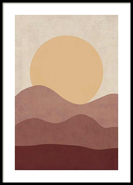 Sunrise Illustration Affiche dans le groupe Affiches / Illustrations chez Desenio AB (12400)