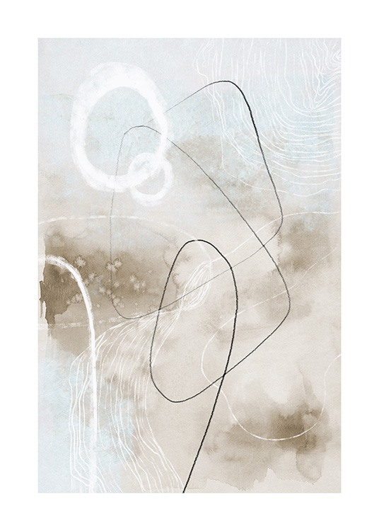 Soft Abstract Lines No2 Affiche / Art abstrait chez Desenio AB (13676)