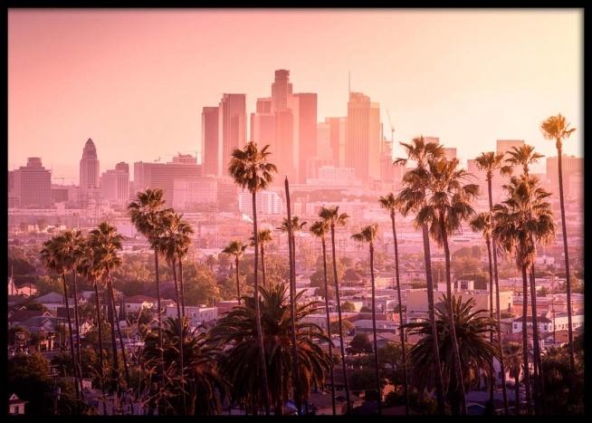 LA Sunset Horizon Affiche