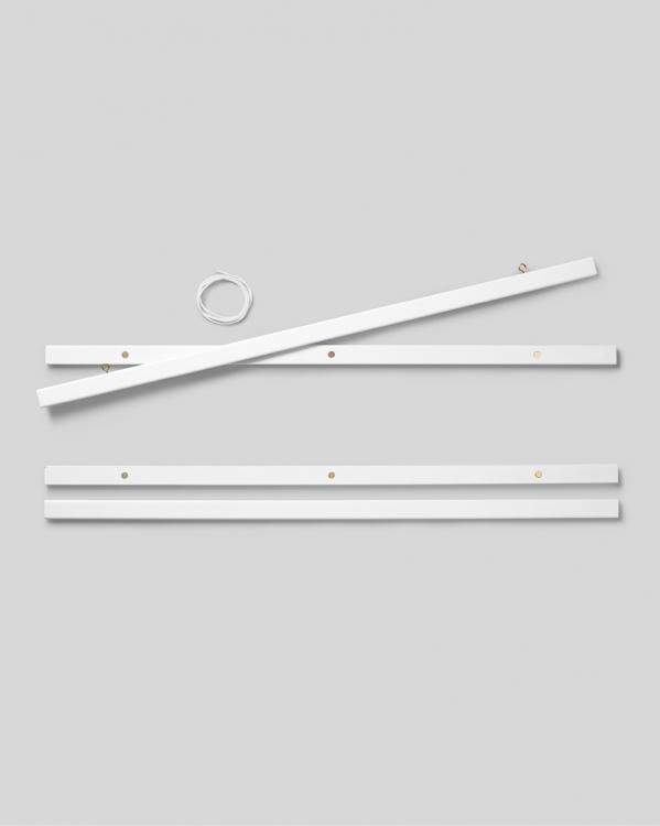 porte affiche blanc 71 cm fixation magn tique