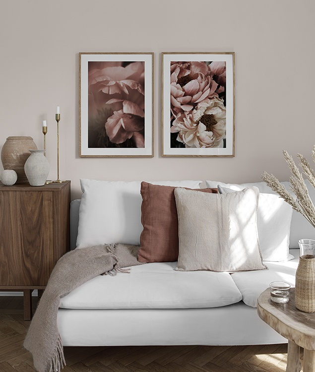 Poster Mit Rosa Blumen Furs Schlafzimmer Desenio Ch
