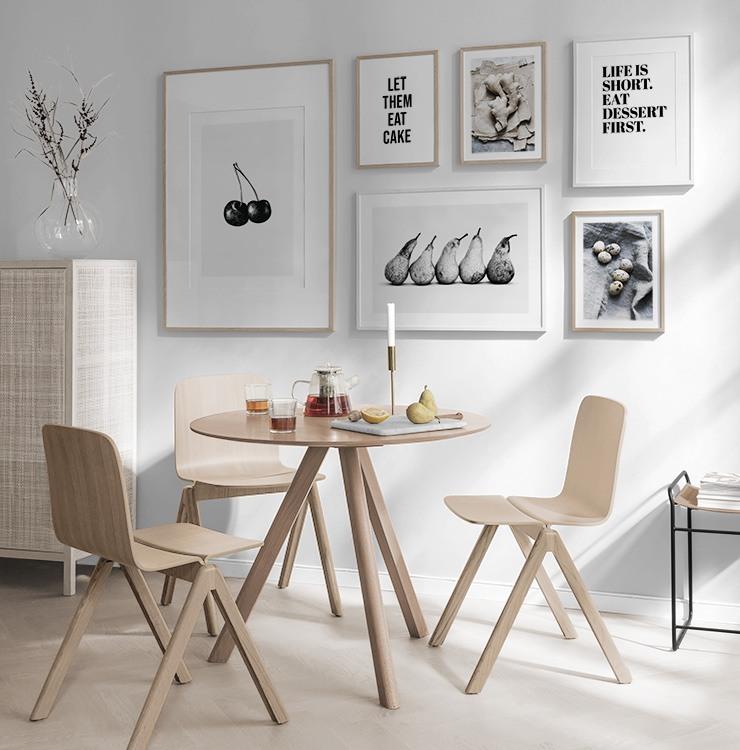 Galleria a parete e collage di quadri in cucina | Crea ...